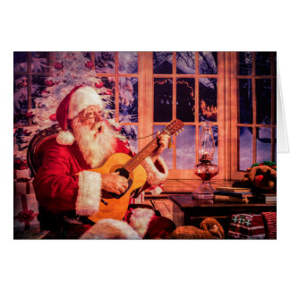 Christmas Greeting Card with Singing Santa