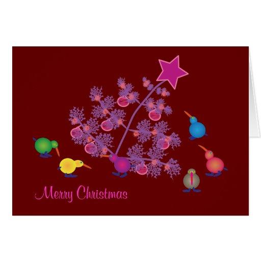 Christmas Greeting cards: Kiwi