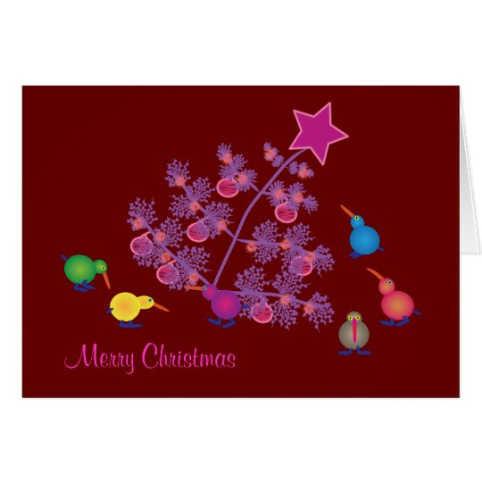 Christmas Greeting cards: Kiwi Card