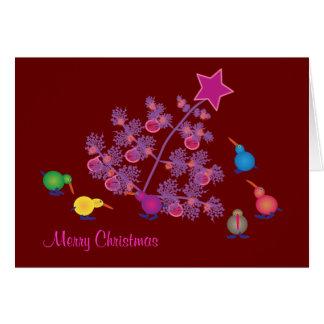 Christmas Greeting cards: Kiwi Greeting Card