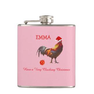 Christmas Greeting    Chicken Christmas Greeting Hip Flask