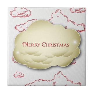 Christmas Greeting Small Square Tile