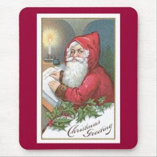 Christmas Greeting - Vintage Santa Mouse Pad