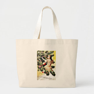 Christmas greeting with an angel decorates the chr jumbo tote bag