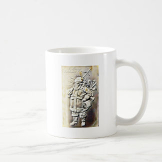 Christmas greeting with an embossed photo copy of coffee mug