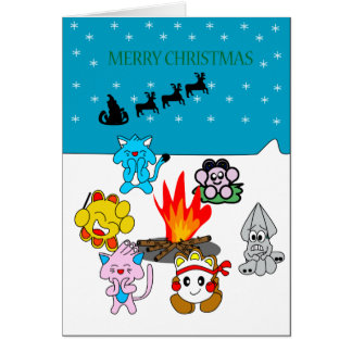 Christmas Greeting with Annenikobu & friends Card
