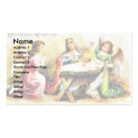 Christmas greeting with Mary , infant jesus with t Business Card Template
