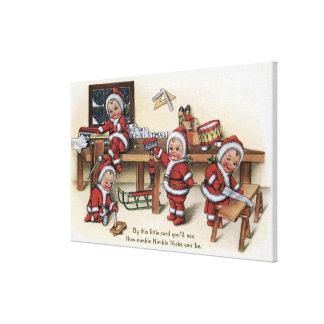 Christmas GreetingLittle Kids Canvas Prints