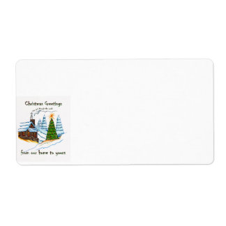 Christmas Greetings Avery Label Shipping Label
