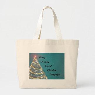 Christmas greetings canvas bags