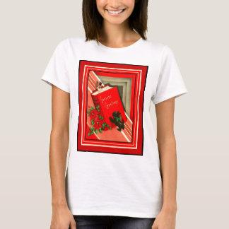 Christmas Greetings Black Scottie Dog T-Shirt