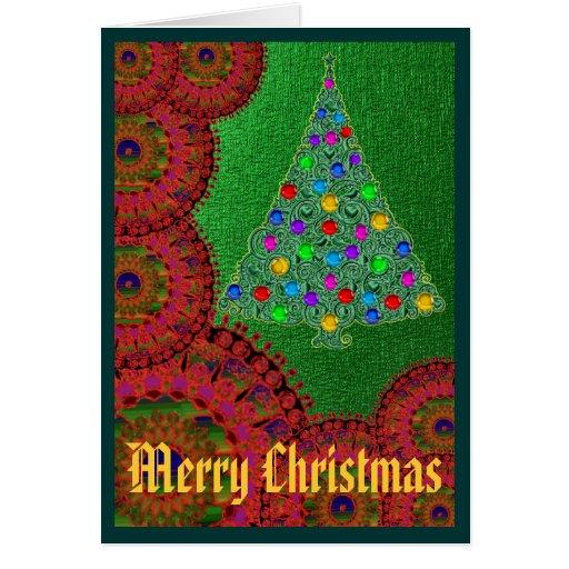 Christmas Greetings Blank Inside Card