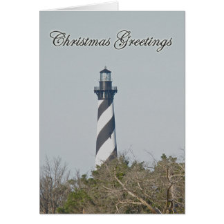 Christmas Greetings - Cape Hatteras Lighthouse Greeting Card