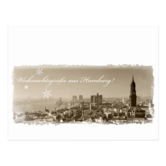 Christmas greetings from Hamburg, Christmas card, Postcard