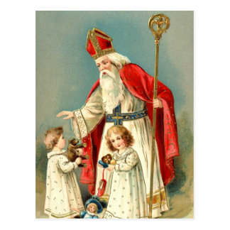 Christmas Greetings from St. Nicholas Postcard