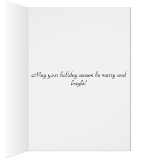 Christmas greetings holiday card
