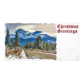 CHRISTMAS GREETINGS - MT SHASTA CARD