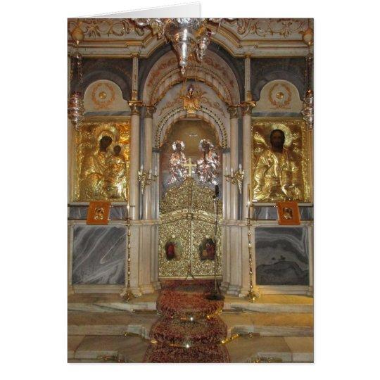 Christmas Greetings Orthodox Church Iconostasis Card