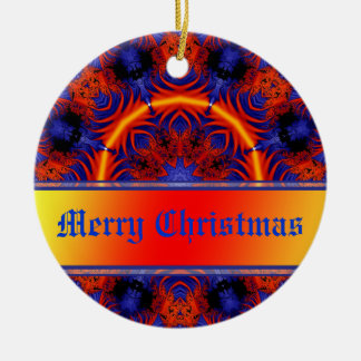 Christmas Greetings Personalised Gift Round Ceramic Decoration