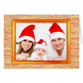 Christmas Greetings Photo Frame + your image Greeting Card