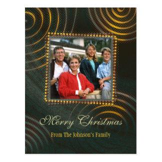 Christmas Greetings   Photo Template Postcard