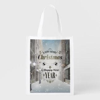 Christmas Greetings Reusable Grocery Bag