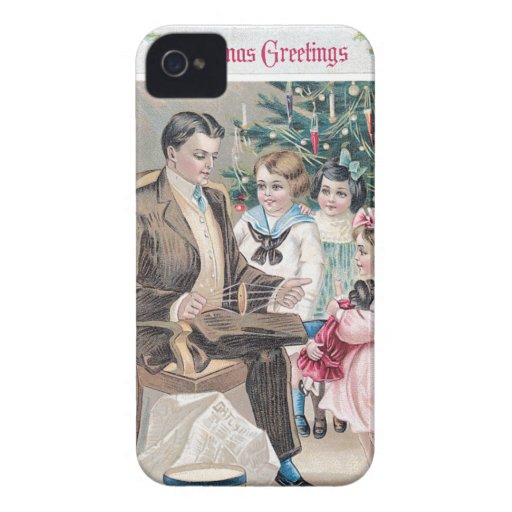 Christmas Greetings Vintage Card Blackberry Bold Covers