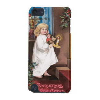 Christmas Greetings Vintage Christmas Card Design iPod Touch (5th Generation) Case