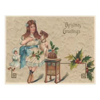 Christmas Greetings Vintage Christmas Postcard