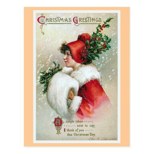 """Christmas Greetings"" Vintage Post Cards"