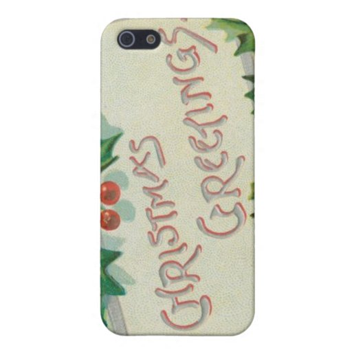 Christmas Greetings with Holly iPhone 5 Cover