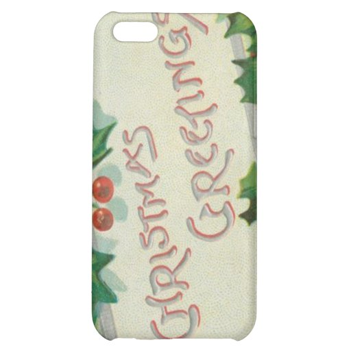 Christmas Greetings with Holly iPhone 5C Cases