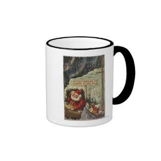 Christmas GreetingSanta at North Pole Coffee Mug
