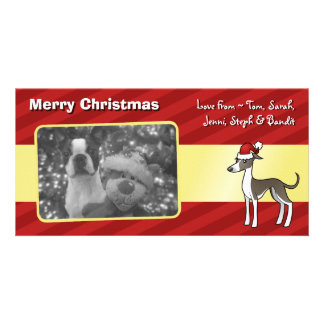 Christmas Greyhound / Whippet / Italian Greyhound Card