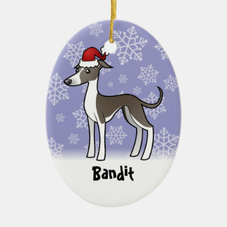Christmas Greyhound/Whippet/Italian Greyhound Christmas Ornament