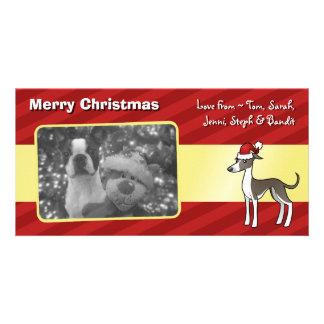 Christmas Greyhound / Whippet / Italian Greyhound Photo Greeting Card