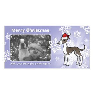 Christmas Greyhound / Whippet / Italian Greyhound Photo Greeting Card