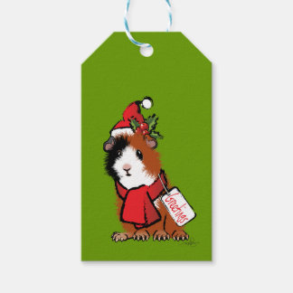 Christmas Guinea Pig Greeting Gift Tags