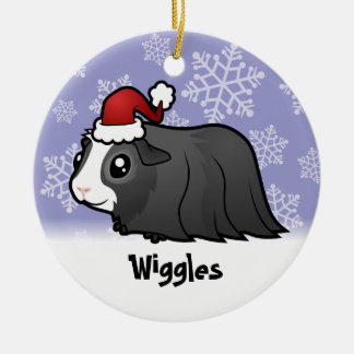Christmas Guinea Pig (long hair) (add pets name) Christmas Ornament
