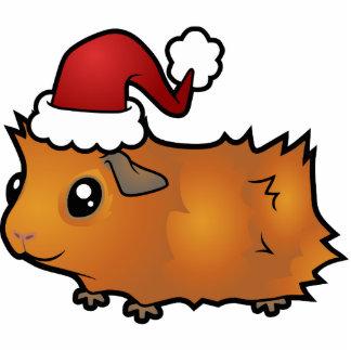 Christmas Guinea Pig Ornament (scruffy) Photo Sculpture Decoration