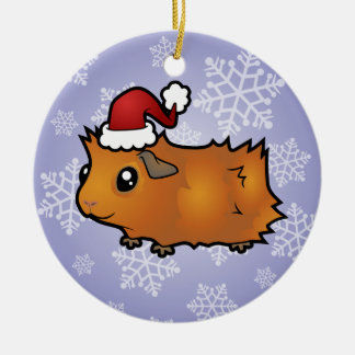 Christmas Guinea Pig (scruffy) Christmas Ornament
