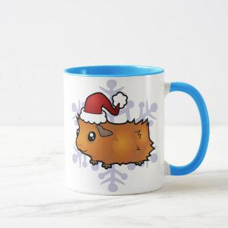 Christmas Guinea Pig (scruffy) Mug