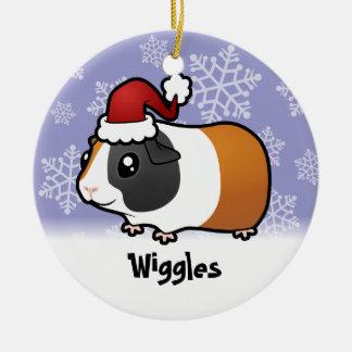 Christmas Guinea Pig (smooth hair) (add name) Christmas Ornament