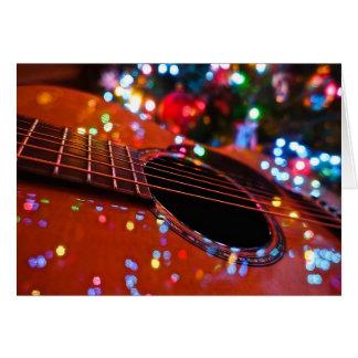 Christmas Guitar Greeting Card