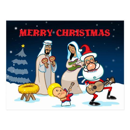 Christmas Guitar Solo Postcard
