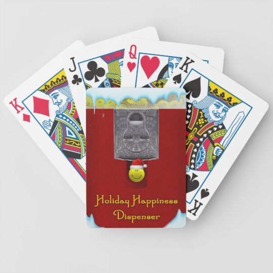Christmas Gumball Machine Playing Cards