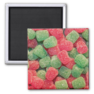 Christmas Gumdrops Square Magnet