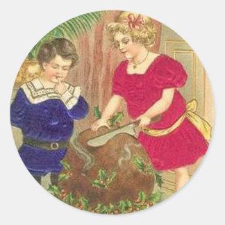 Christmas Ham Round Sticker