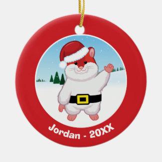Christmas Hamster Christmas Ornament