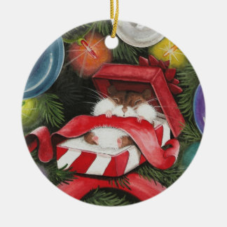Christmas Hamster - Hammie Holiday Christmas Ornament
